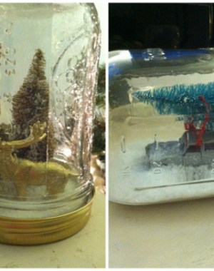DIY mason jar snow globe tutorial on Oh Lovely Day