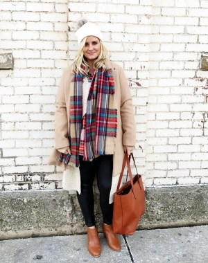 Winter Style: Lots of Layers + Plaid on Plaid #holidaystyle #winterstyle