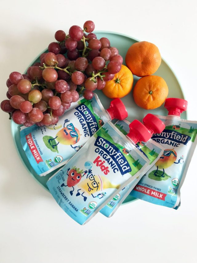 Summer Snacking for on the go Kiddos | ohlovelyday.com #ad #stonyfieldkids