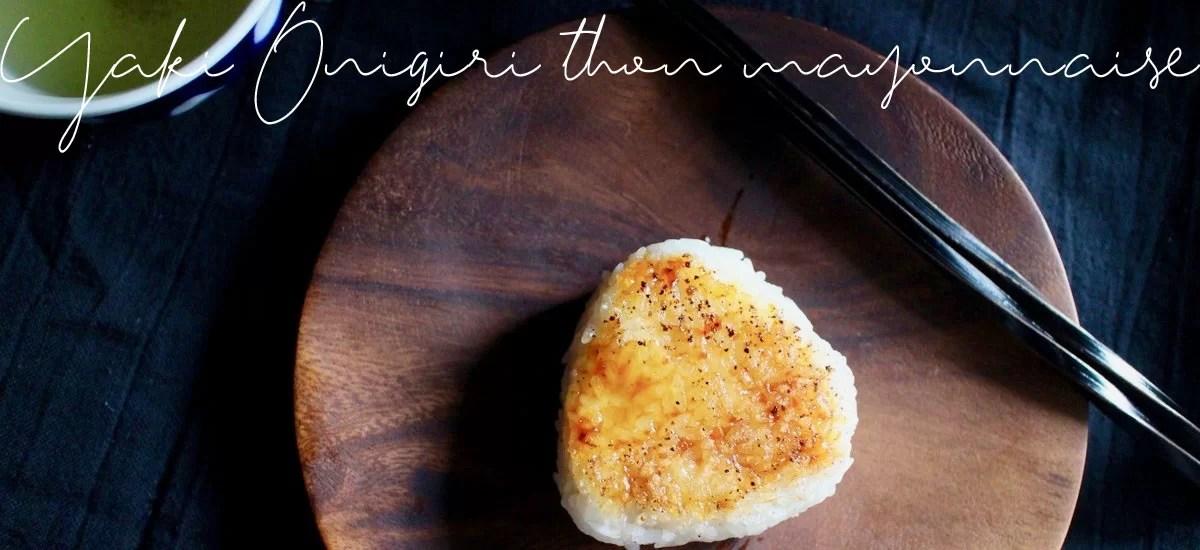 Yaki onigiri thon mayonnaise, grillés à la sauce yakitori