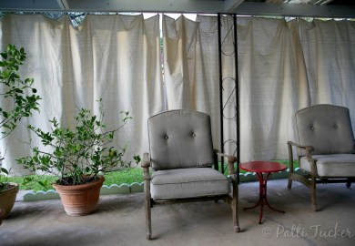Drop Cloth Curtains For Patio