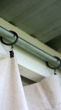 How To: Drop Cloth Privacy Curtains for Your Patio