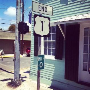Key West - začátek transamerické dálnice č. 1