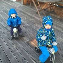Policejní motorky Enduro Yupee - velká a malá