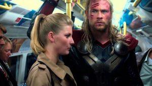 Thor prend le métro... mais juste à Londres