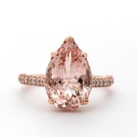 Pear Shape Pink Morganite Ring - Christine K Jewelry