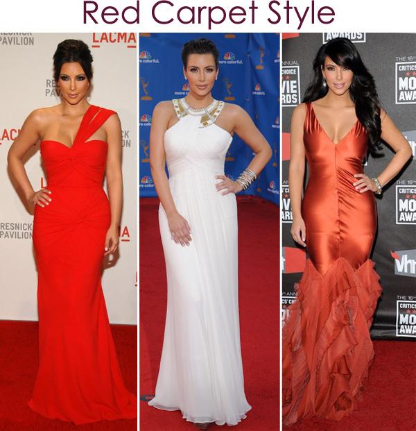 estilo Kim Kardashian Red Carpet