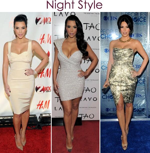 Looks noite Kim Kardashian 2011