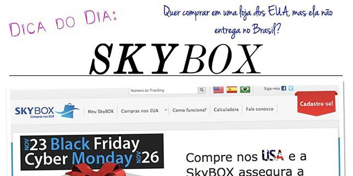 Como comprar no EUS, compras no exterior. Peça pela Skybox, veja a dica no Oh My Closet!