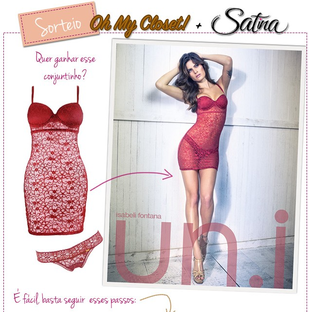sorteio blog de moda oh my closet satina lingerie u.ni isabeli fontana