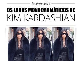 looks monocromaticos kim kardashian blog de moda oh my closet tendencia inverno 2015 outono tom sobre tom look all black all white monocromatico dicas