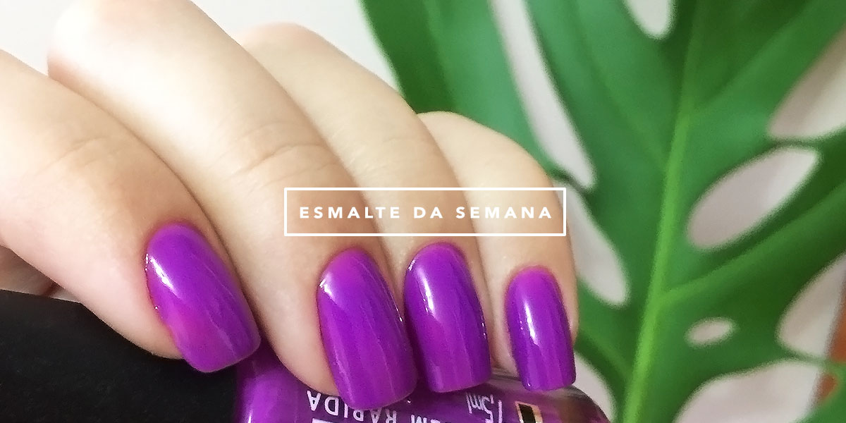 Esmalte da semana Mônica Araújo blog de moda Oh My Closet esmalte Fru Fru da Realce.