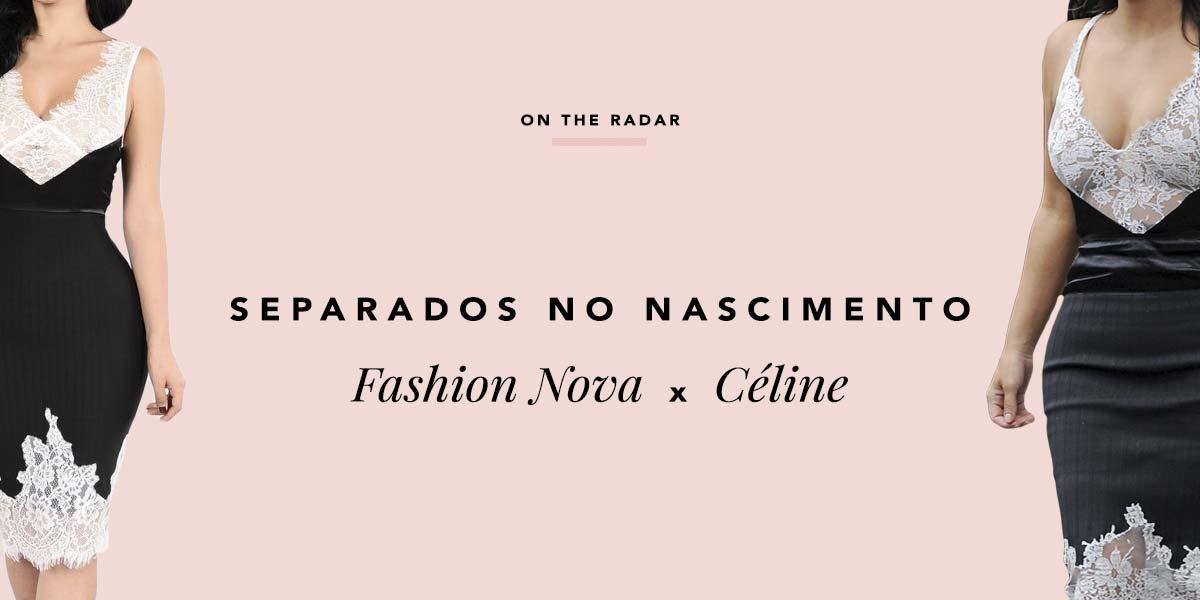 Fashion Nova Dress, o inspired do vestido Céline Spring 2016 que Kim Kardashian usou.
