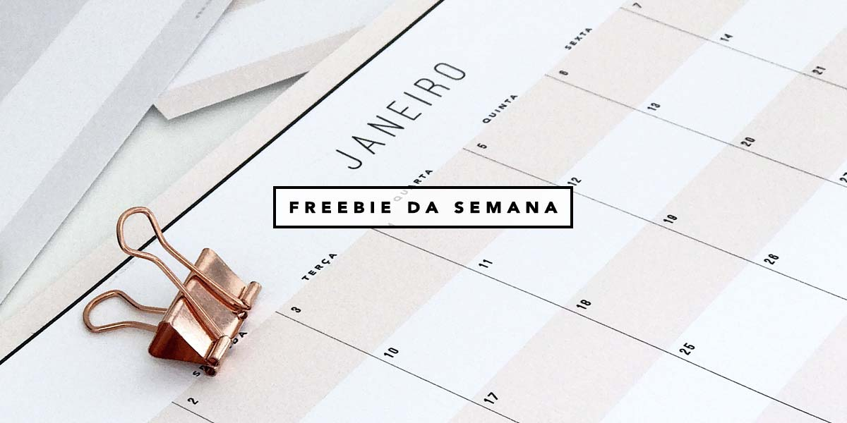 Freebie da semana: planner mensal 2017 minimalista do Oh My Closet por Mônica Araújo. Veja esse e mais printables.