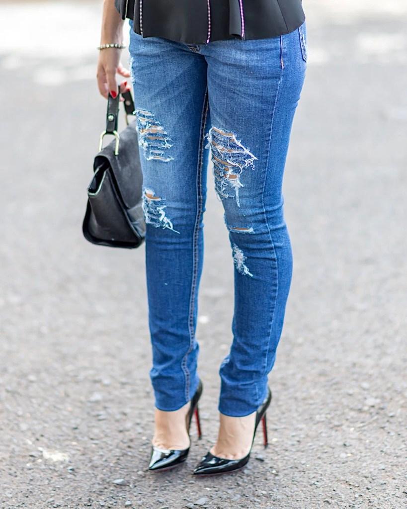 Look do dia Mônica Araújo calça Hipsters Denim look para trabalho.