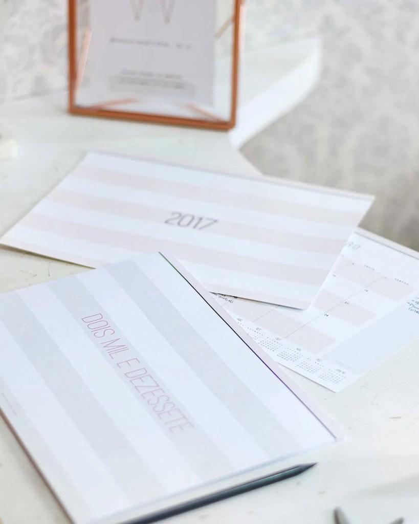 Planner mensal 2017 design minimalista do Oh My Closet por Mônica Araújo.