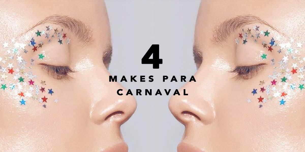 4 ideias de make para Carnaval que são fáceis e simples de fazer! Não tem habilidade? Vem ver o que o Oh My Closet preparou!