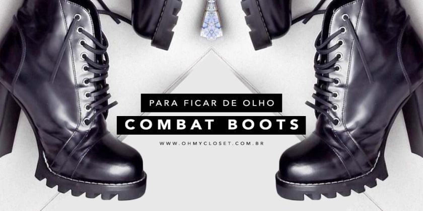 Combat boots tendência inverno 2017 Arezzo Schutz Louis Vuitton Duces Oh My Closet