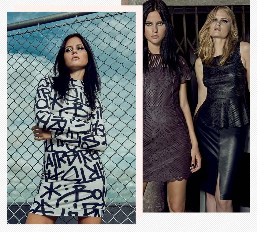 Campanha lookbook coleção Pat Pat's para C&A preços Oh My Closet vestido couro.