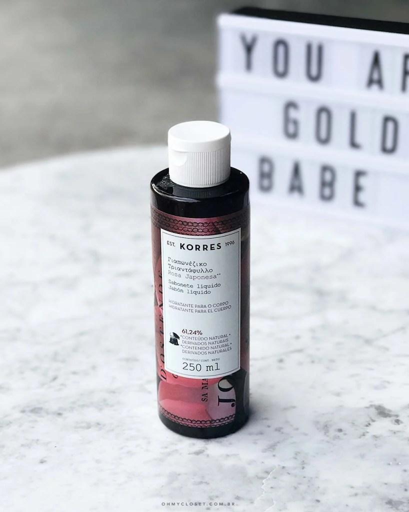 Vem ver a resenha do sabonete líquido de rosa japonesa da Korres elksis e mais dicas de beleza no Oh My Closet!