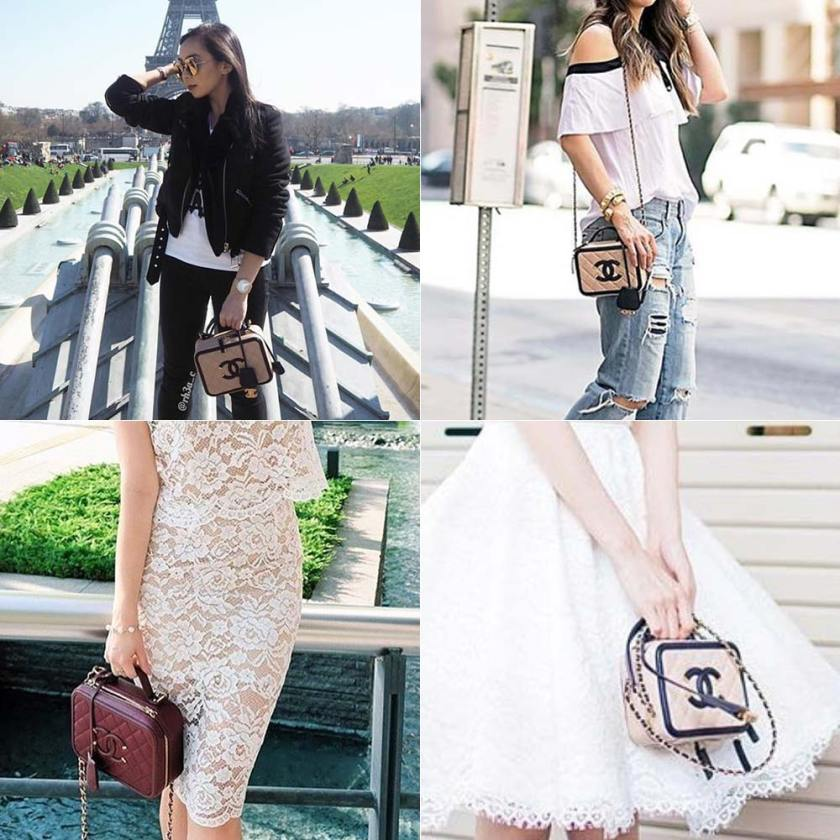 Chanel Filigree nos looks de várias it girls.