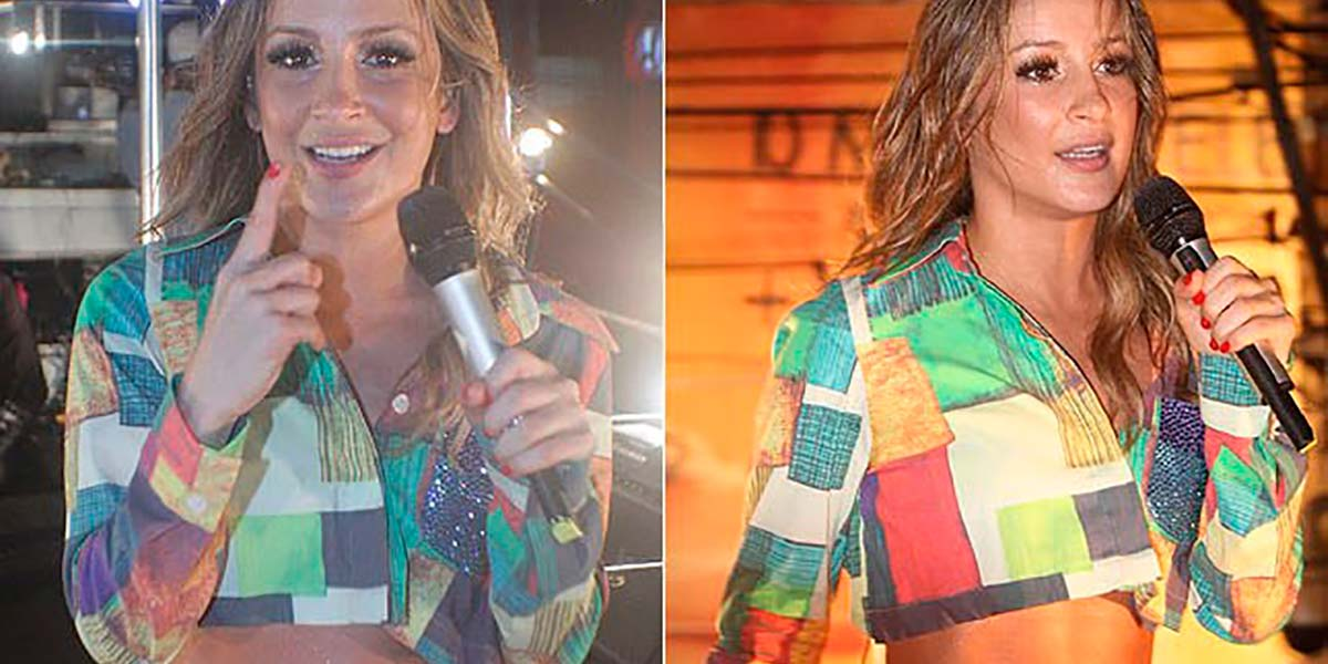 Camisa cropped Claudia Leitte
