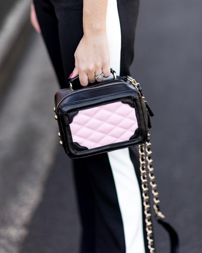 Detalhe da bolsa Chanel Inspired matelassada do Ali Express.