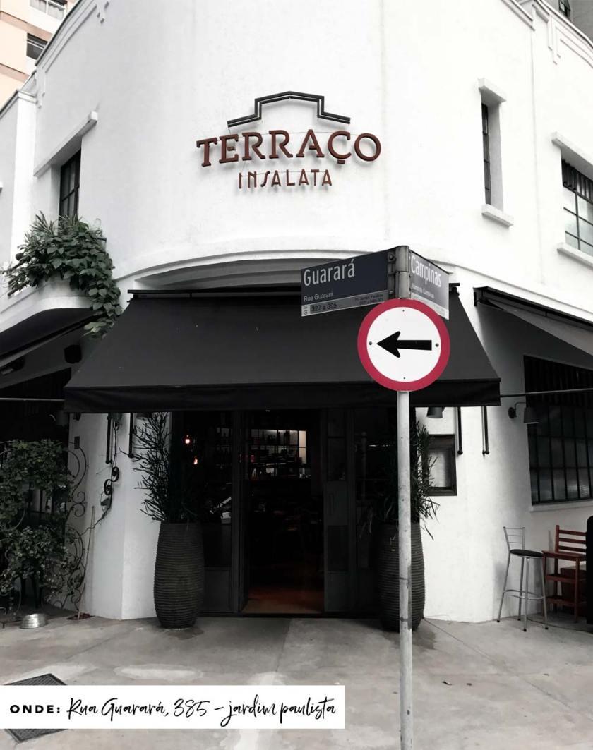 Fachada do restaurante Terraço Insalata em São Paulo.