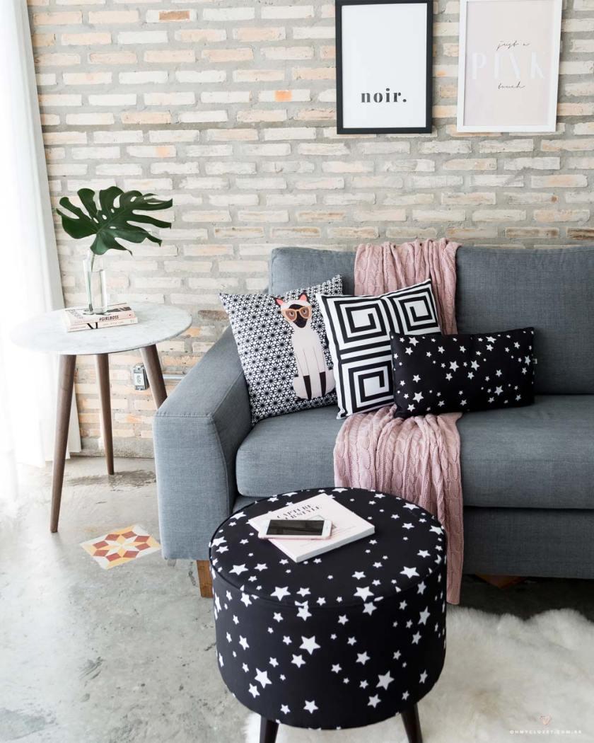 Ambiente montado com itens de decoração de Nita Faco e ViPapier.