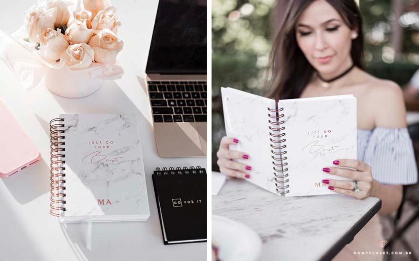 Simple planner da ViPapier com Mônica Araújo do @blogohmycloset.