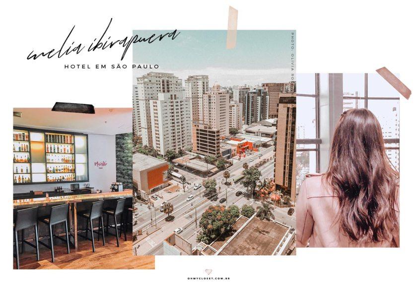 Vista da Avenida Ibirapuera da sacada do hotel Melia Ibirapuera.