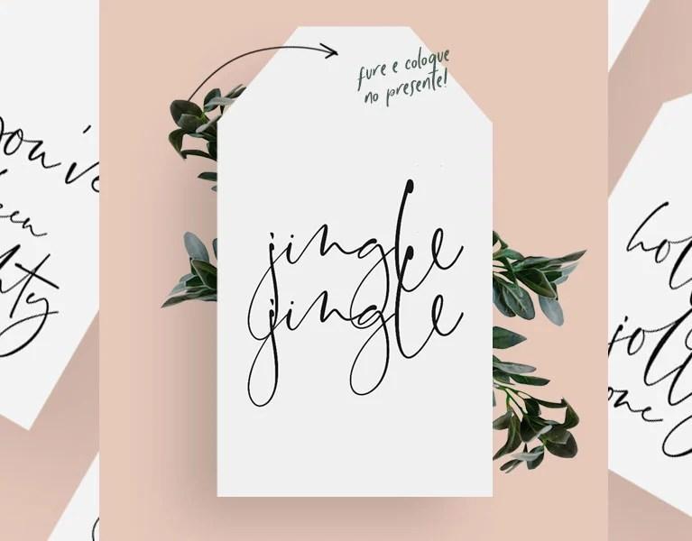 Free printable Christmas Tags - Etiquetas de Natal Grátis Para Imprimir.