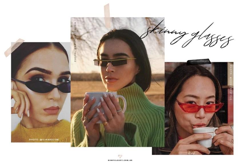 Como usar os skinny classes, óculos fininhos que são tendência para 2019.