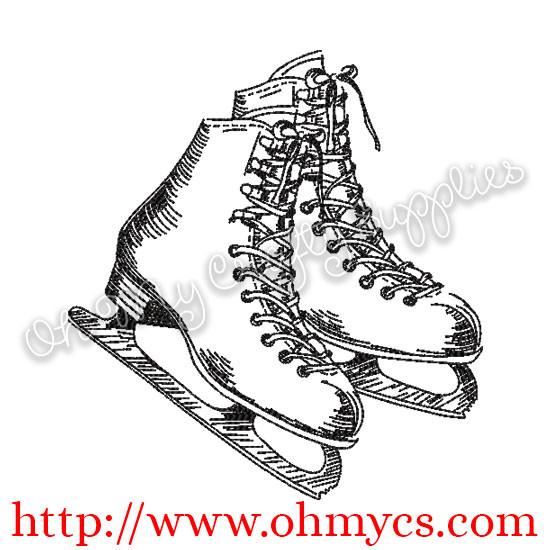 Sketch Skates Embroidery Design