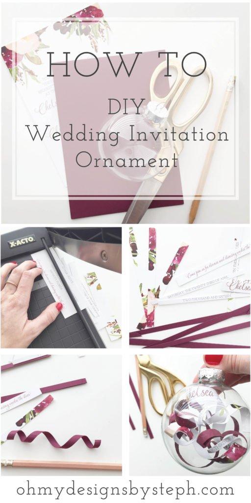 Vector Ornament Wedding Invitation Set
