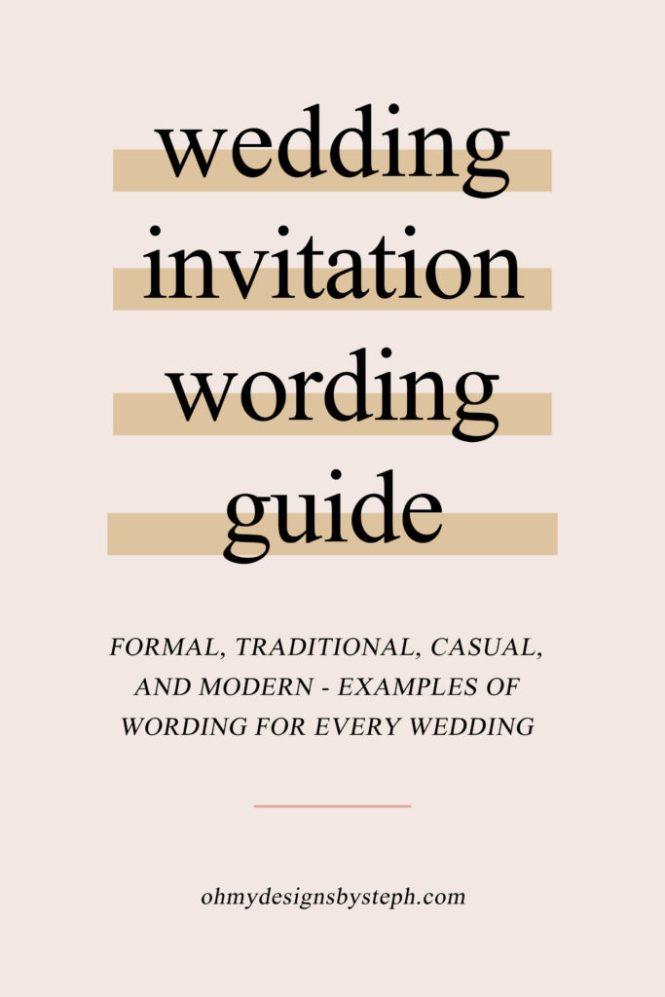 I Start With Wedding Invitation Wording