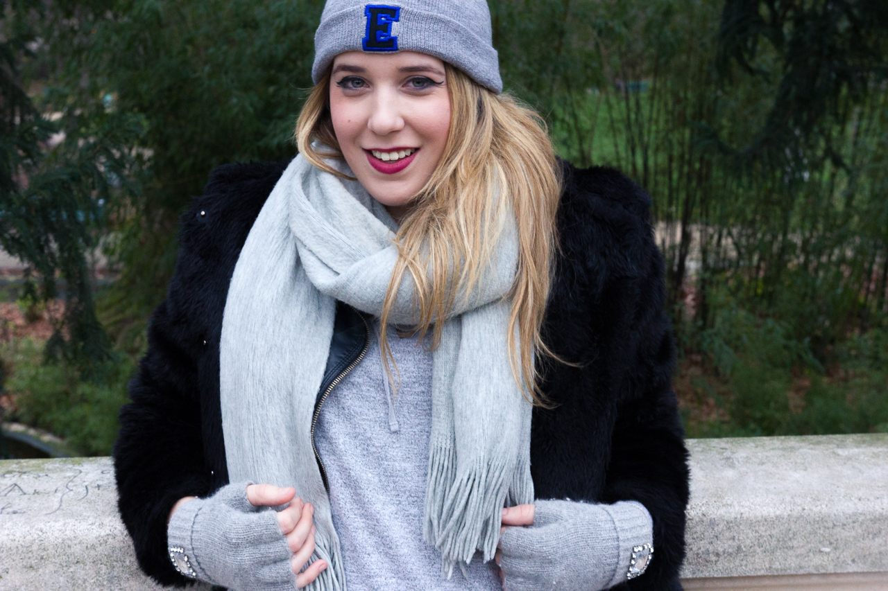 winter hiver style asos pull and bear h&m habits look fake faux fur fashion blogger outfit look ootd