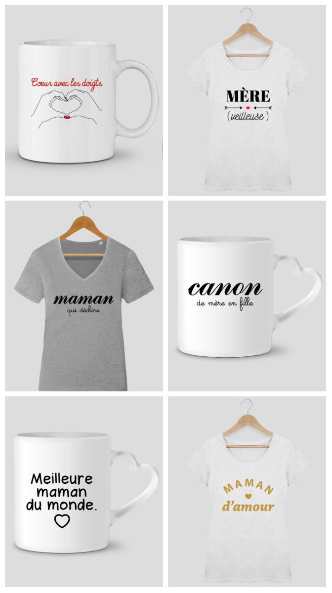 Sélections de t-shirts et mugs