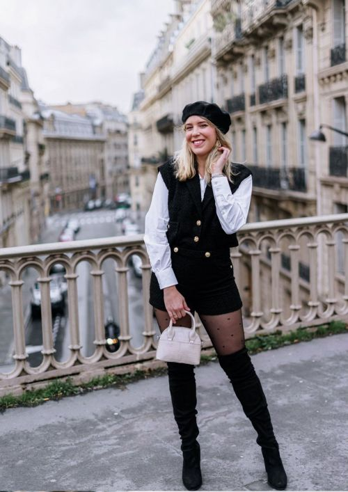 Look parisien noir et blanc