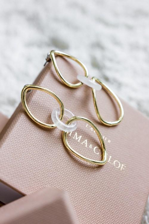 Les boucles d'oreils Cilvia de l'Atelier Emma&Chloé
