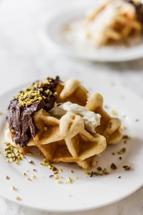 Gaufre chocolat guimauve