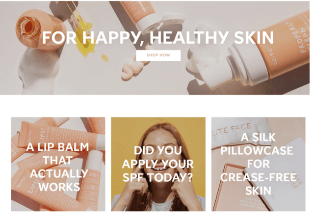 Go to skincare 3 - Brand Personality Examples - Readcity Writing
