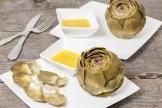 Artichoke with shallot vinaigrette
