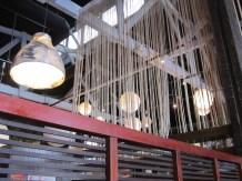 Interior ceiling of restaurant