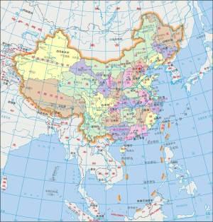 中国地图-Map of China