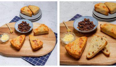 Glutenvrije kaas en rozijnenbroodjes