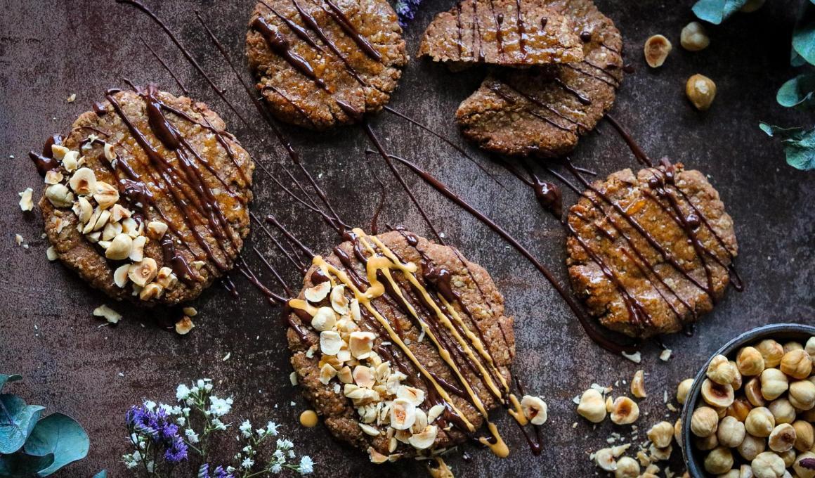 Knapperige glutenvrije koekjes met hazelnoot