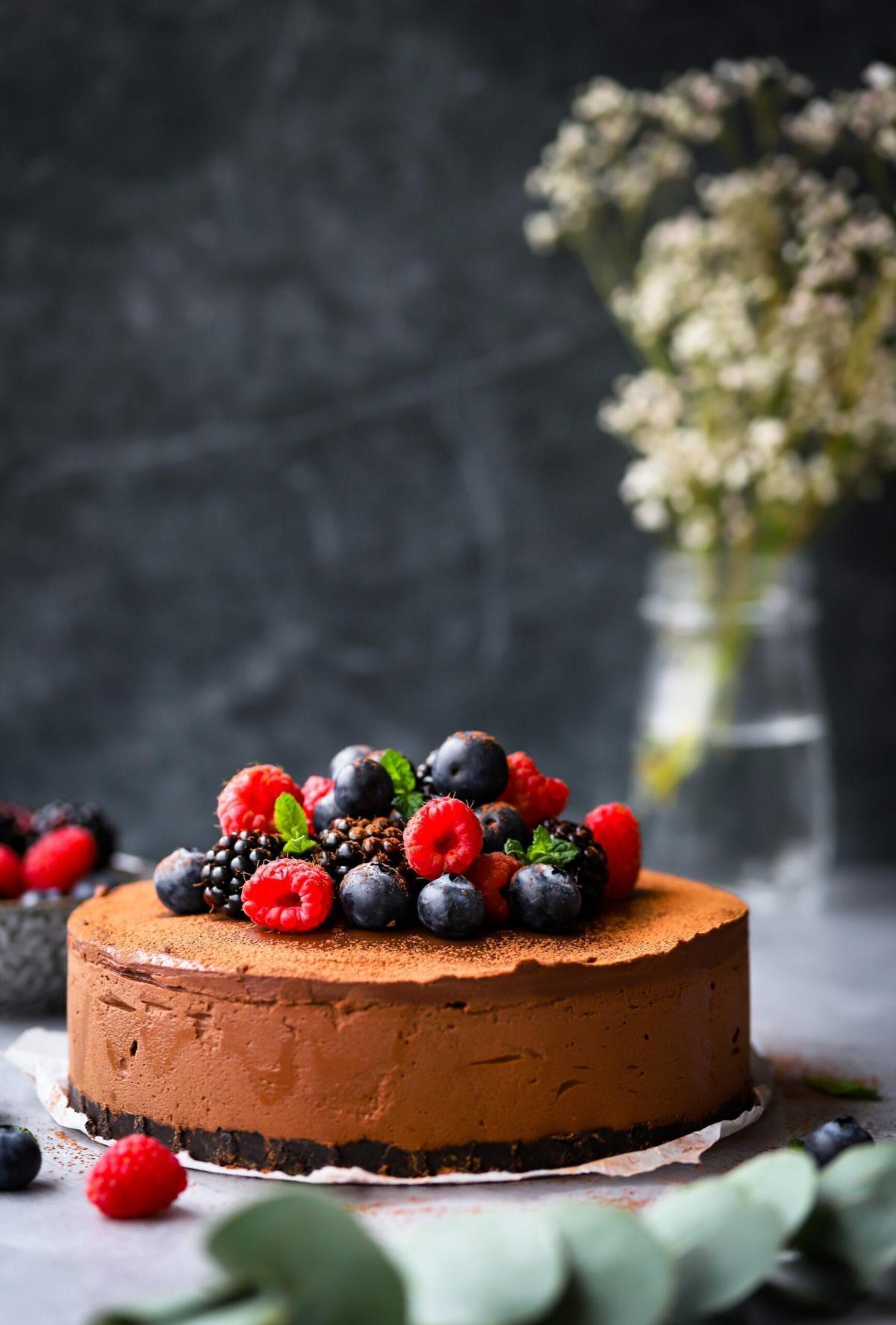 Glutenvrije chocolademousse taart
