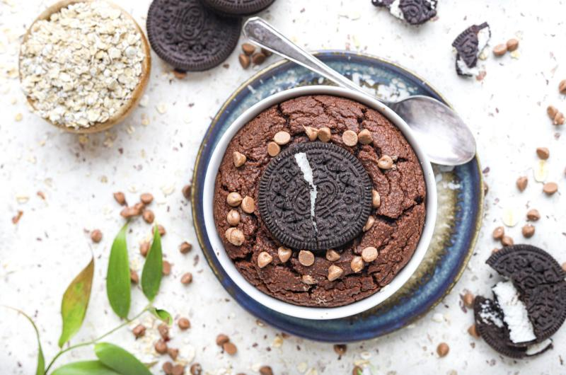 Chocolade lava cake met Oreo glutenvrij én vegan