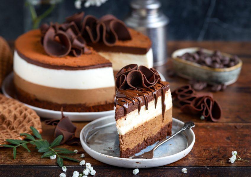 Brownie tiramisu taart